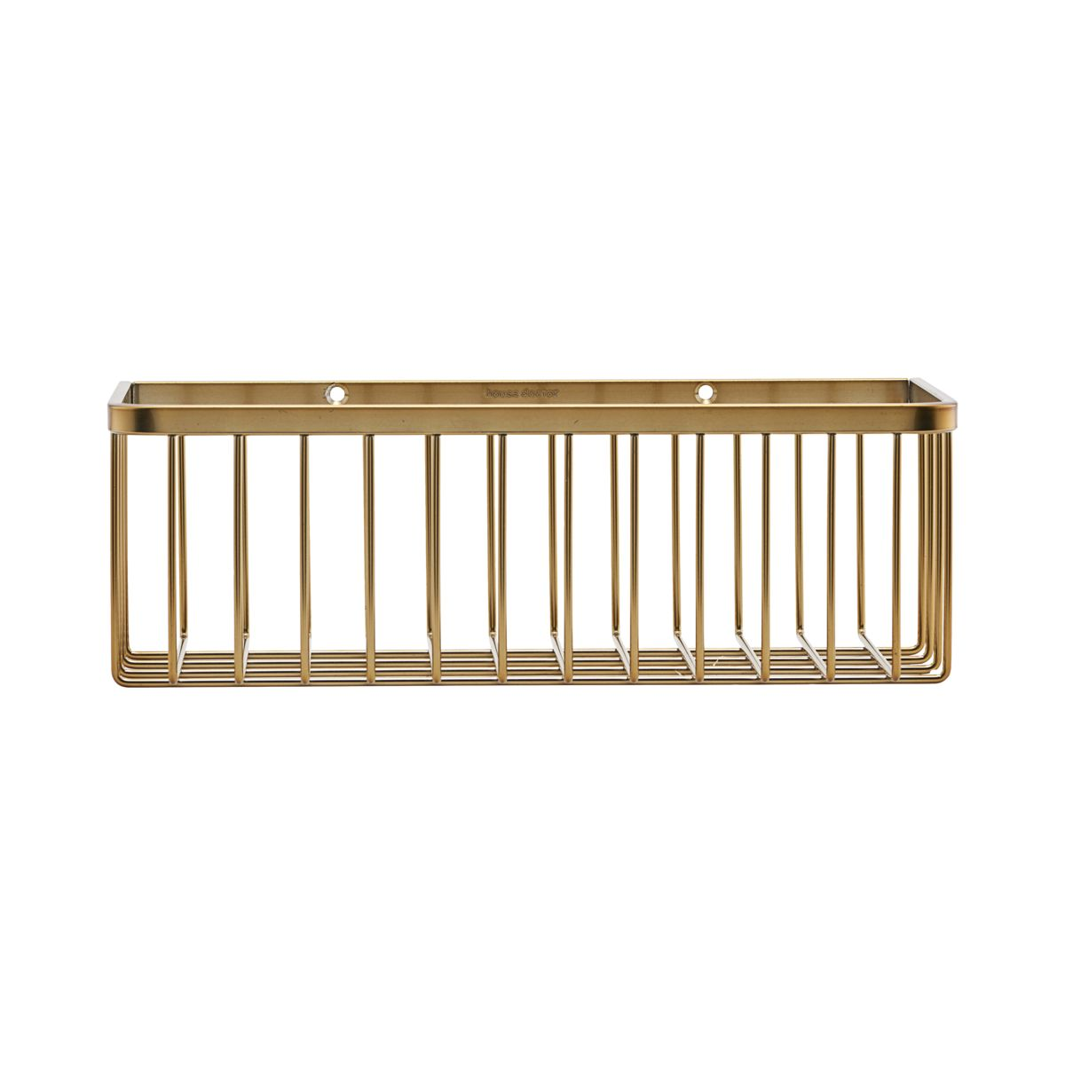 Brushed Brass Bathroom Storage Bracket